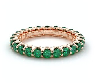 The Eternal Fit 14K Rose Gold 2.53 Ct. Tw. Emerald Eternity Ring