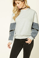 Forever 21 FOREVER 21+ Faux Fur Paneled Pullover
