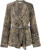 Equipment leopard print pyjama set - women - Silk - M