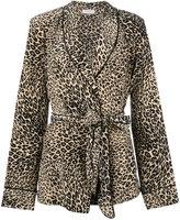 Equipment leopard print pyjama set