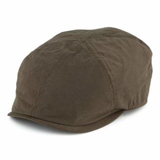 Failsworth Hats Micro 6 Newsboy Cap - Olive X-Large