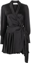 Zimmermann Silk Wrap-Style Mini Dress