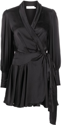 Zimmermann Silk Wrap-Style Mini Dress