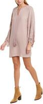 Lavender Brown Bell Sleeve Shift Dress