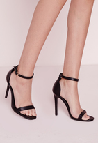 Missguided Women's Strappy Heeled Sandals - Black