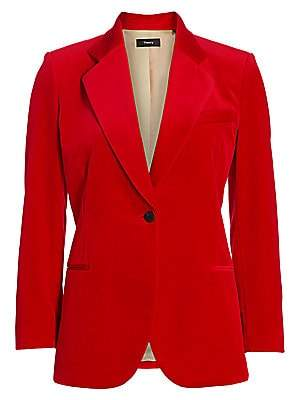 Theory Women's Velvet Cinched Blazer