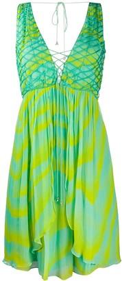 Just Cavalli wave print mini dress