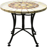 One Kings Lane 24Dia Outdoor Side Table, Marble