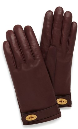 Mulberry Darley Gloves Cognac Smooth Nappa