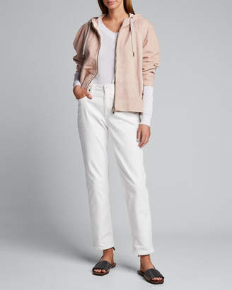 Brunello Cucinelli Metallic Cotton V-Neck Sweater