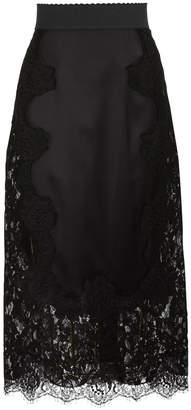Dolce & Gabbana Lace silk skirt