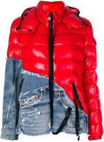 Moncler X Craig Green denim panel hooded jacket