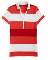 Tommy Hilfiger Final Sale- Y Neck Stripe Polo