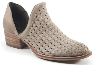 Diba True Side Cut-Outs Leather Woven Boots - Sauce Say