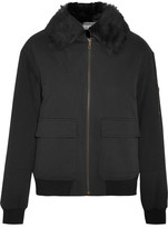 Yves Salomon Shearling-lined Twill Bomber Jacket - Black