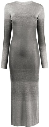 Paco Rabanne Slim-Fit Metallic Knit Dress