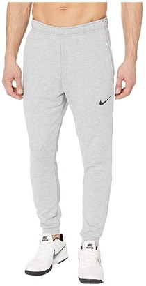 Nike Dry Pants Taper Fleece (Dark Grey Heather/Black) Men's Casual Pants
