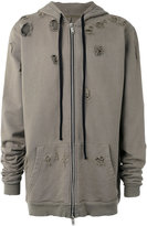 Unravel Project - distressed hoodie - men - Cotton - S
