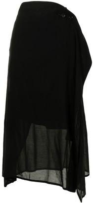 Y's semi-sheer A-line skirt