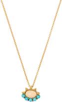 Ileana Makri Opal, turquoise & yellow-gold necklace