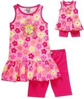 Dollie & Me Girls 4-14 Floral Drop-Waist Tunic & Biker Shorts Set