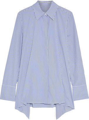 Stella McCartney Mullewa Asymmetric Striped Cotton Oxford Shirt