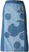 Kenzo patchwork denim skirt