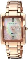 Anne Klein Women's AK/2788RMRG Swarovski Crystal Accented Rose Gold-Tone Bracelet Watch