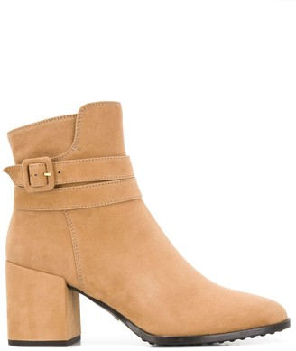 Tod's Buckle 75mm Ankle Boots