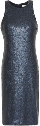Halston Glittered Sequined Jersey Dress