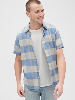 Gap Plaid Short Sleeve Shirt