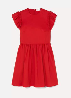 RED Valentino Braided Cotton-blend Poplin Mini Dress - IT38