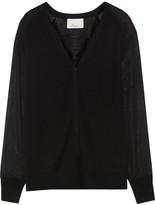 3.1 Phillip Lim Stretch silk-paneled wool cardigan