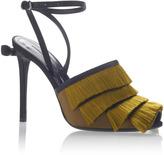 Marco De Vincenzo Satin Fringes Sandals