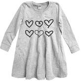 Urban Smalls Heather Gray Hearts Swing Dress - Toddler & Girls