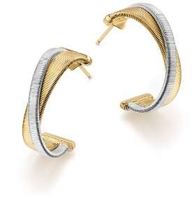 Marco Bicego 18K White & Yellow Gold Masai Hoop Earrings