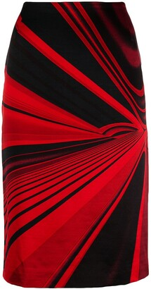 Versace Pre Owned 1990's Abstract Vector Printed Skirt