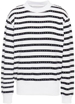 Victoria Victoria Beckham Printed French Cotton-terry Sweatshirt