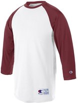 Champion Adult Raglan Baseball T-Shirt (White/Forest Green)