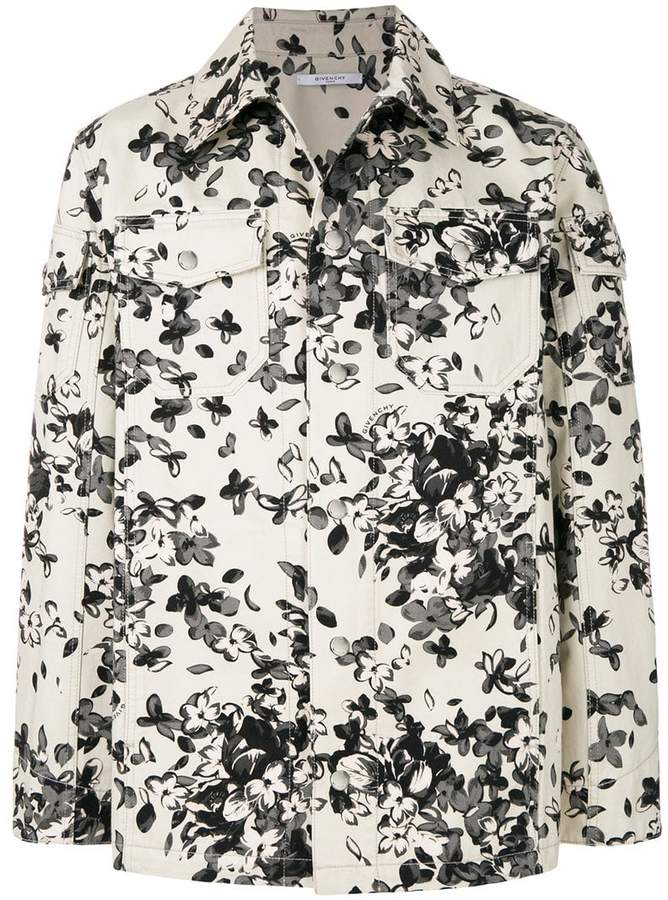 Givenchy floral shirt jacket