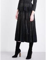 Alexander McQueen Pleated knitted midi skirt