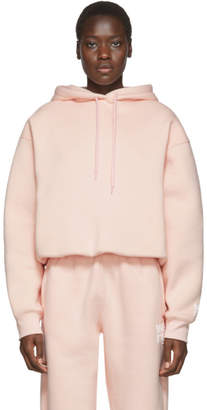 Alexander Wang Pink Dense Fleece Bubble Hoodie