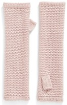 Rebecca Minkoff Garter Stitch Fingerless Gloves