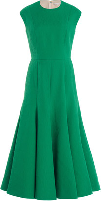 Emilia Wickstead Denver Textured Crepe Midi Dress