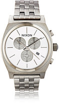 Nixon Men's Time Teller Chrono Watch-SILVER