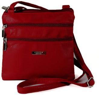 Generic New Womans Leather Style Cross Across Body Shoulder Messenger Bag Zipped (Red)