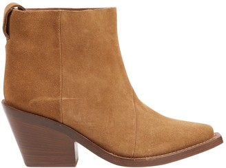 Acne Studios Beige Suede Ankle boots