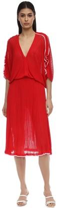 Tulipano Ruffled Knit Mini Dress
