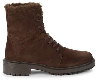 Aquatalia Luce Faux Fur-Lined Suede Boots