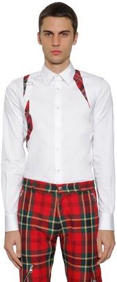 Alexander McQueen Stretch Cotton Poplin Harness Shirt